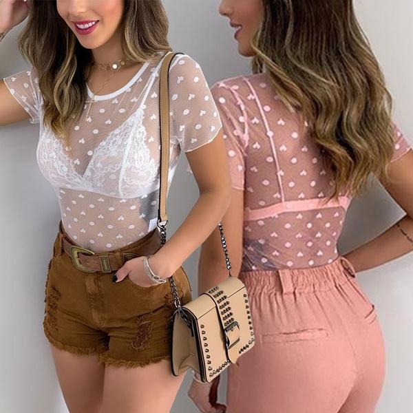 blouse, Heart, Shorts, Tops & Blouses