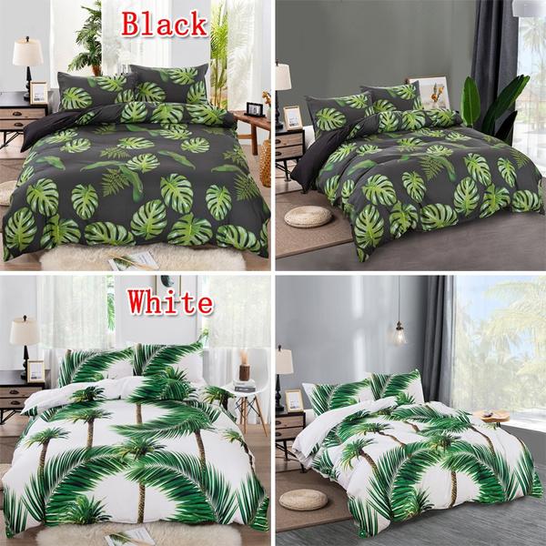 bananaleafbeddingset, 3dcomfortercoverset, leaf, 3dbedclothe