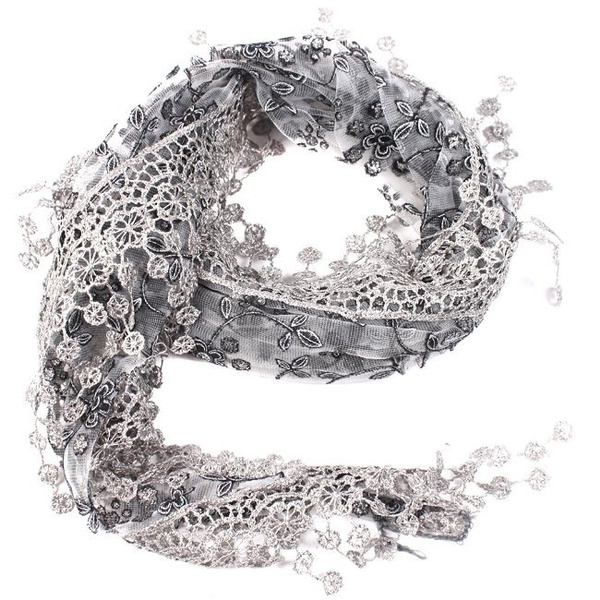sheerscarf, womenfashionscarf, Tassels, Fashion