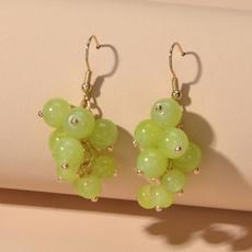 opalearring, greenbeadearring, Beads Earrings, charmingearring
