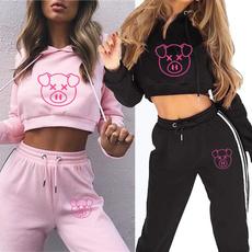 Fashion, crop top, pants, Cropped Hoodie