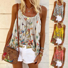 butterfly, summer t-shirts, camisoles for women, womens tank tops
