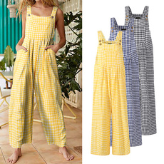 longtrouser, casualjumpsuit, Plus Size, cottonlinen