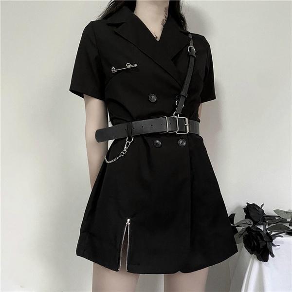 Mini, gothictop, short sleeve dress, fashion dress