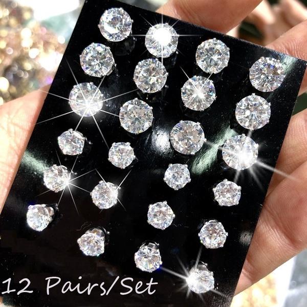 Steel, Cubic Zirconia, earrings jewelry, zirconstudearring