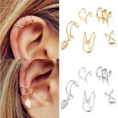 leaves, Jewelry, Men, Ear Cuff