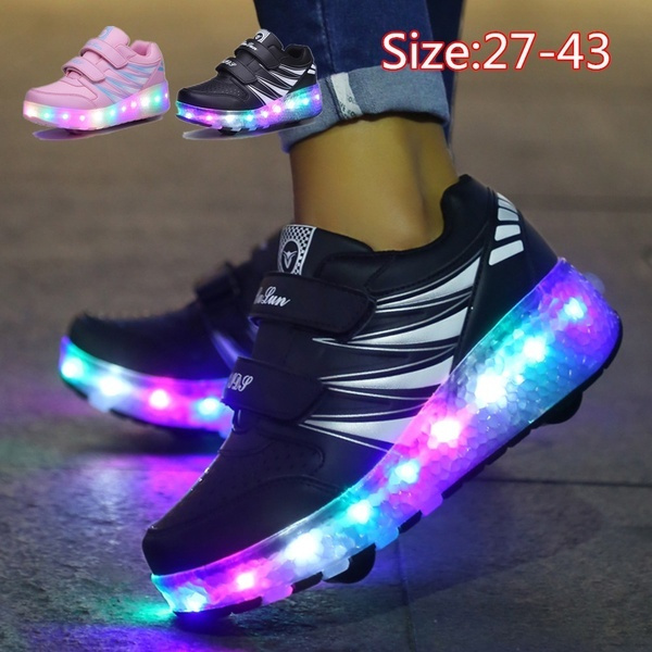 casual shoes, rollerskate, childrenshoe, lights