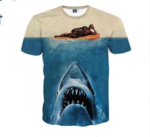 Mens T Shirt, Shark, couplescasualtshirt, fashion3dshortsleeve