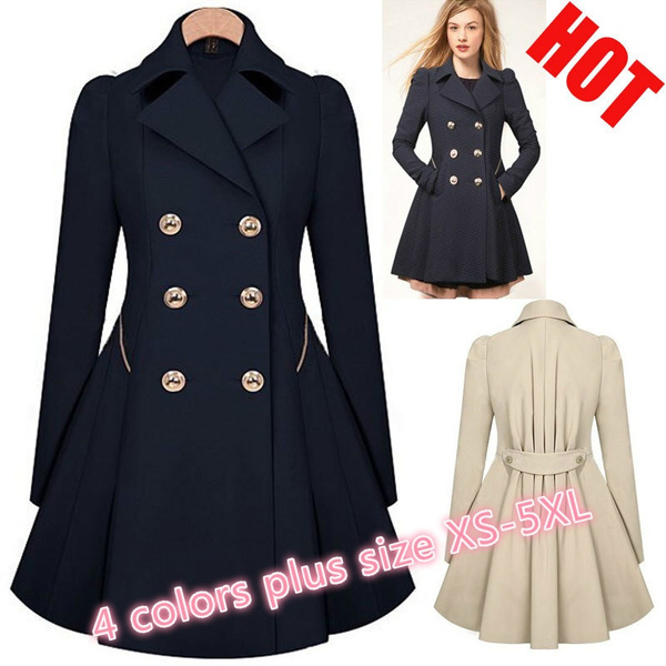 Plus Size, womens coats, Coat, Double Breasted