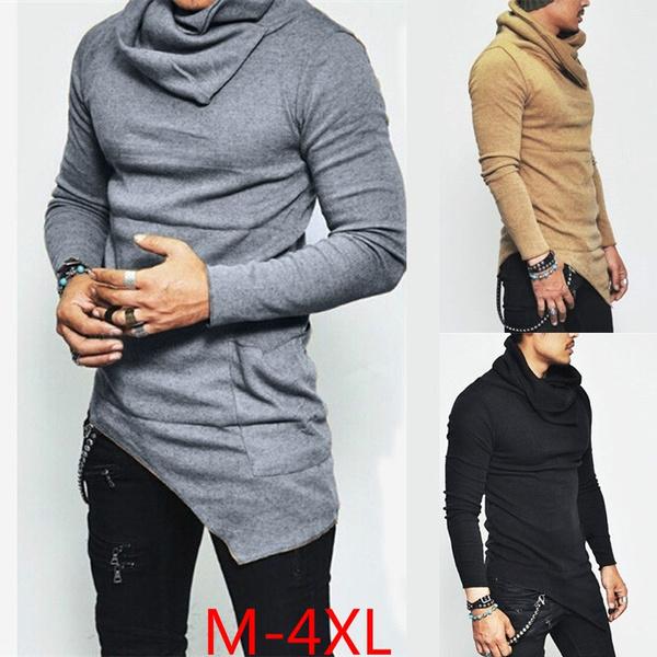 Pocket, Plus Size, Fashion, Irregular