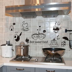 smilefacewallsticker, wallstickersampmural, Café, kitchendecal