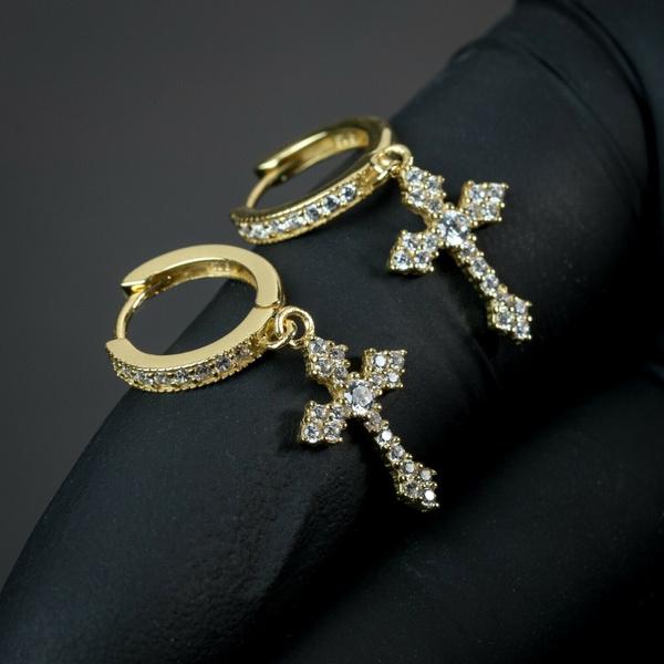 Sterling, Silver Jewelry, gold, Stud Earring