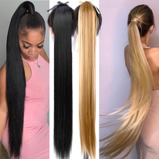 silkystraightponytail, Women's Fashion & Accessories, clip in hair extensions, Hair Extensions & Wigs