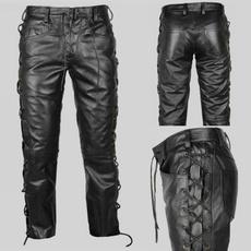Goth, trousers, steampunkmen, PU Leather