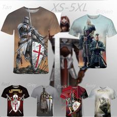 Funny, knightstemplar, Graphic T-Shirt, summer t-shirts