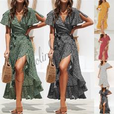 Summer, Dress, Floral, beach dress
