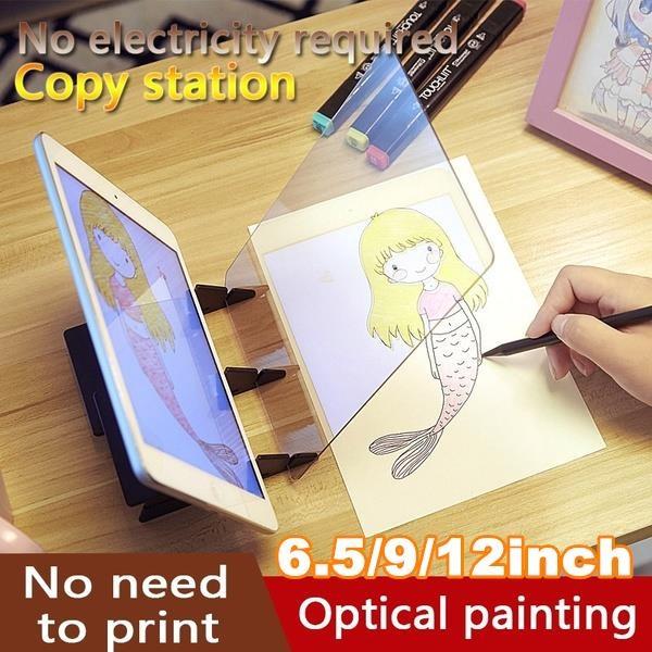 Craft Supplies, Art Supplies, sketchdrawingboard, projector