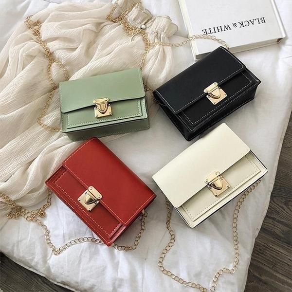 Shoulder Bags, Chain, buttonhandbag, Satchel