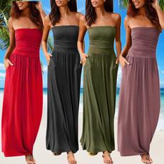 bohemia, Summer, Plus Size, long dress