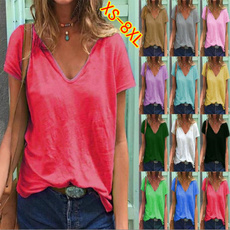 Tops & Tees, Plus size top, Cotton T Shirt, Summer