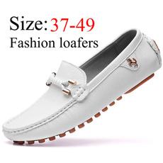 menleatherloafer, casual leather shoes, lazyshoe, menpeasshoe