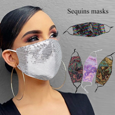 respiratormask, Outdoor, Cosplay, sequinmask