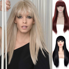wig, longwigblack, Wigs cosplay, lacehumanhairwig