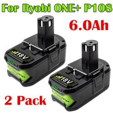 ryobip104, 6ah, batteryforryobione, ryobip103