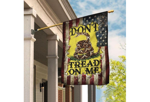 Don't Tread On Me Libetarian Gadsden Flag THB2239F Garden and House Flag