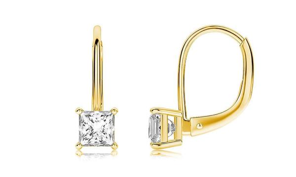 Cubic Zirconia, goldplated, DIAMOND, Princess