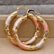 3colorplatedearring, Fashion Accessory, Jewelry, gold