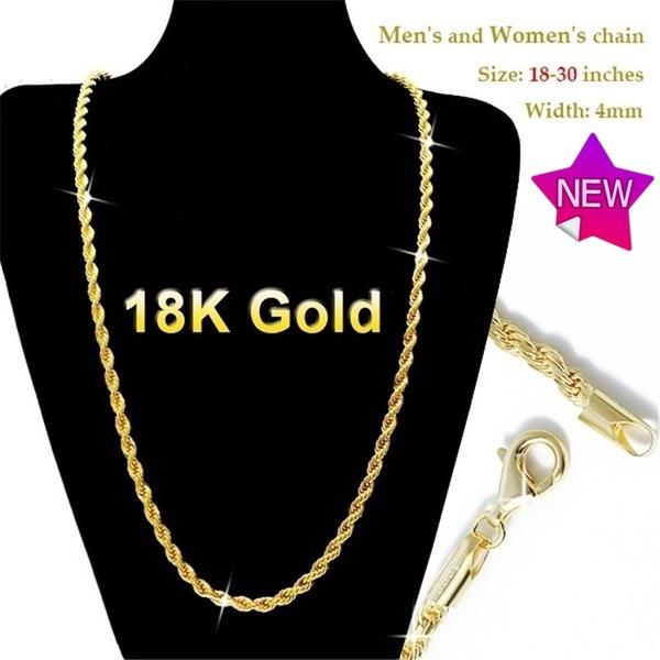 Italian, 18kgoldnecklace, gold, Chain