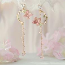 pinkflowerspendant, Flowers, giftforgirlfriend, Jewelry