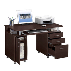 brown, 3drawer, Office, studytable