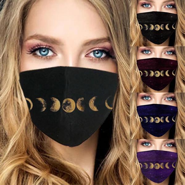 Cotton, moonpattern, unisexmask, warmmask