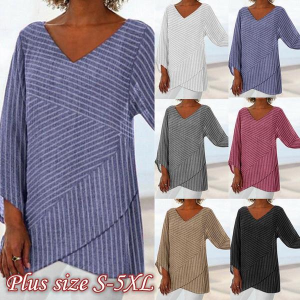 sleeve v-neck, blouse, fashion women, Fashion