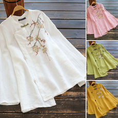 blouse, embroideryblouse, Plus Size, Floral
