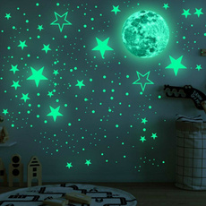 Home & Kitchen, Stickers, glowinthedark, Moon