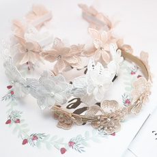 crownhairband, Head, korea, Lace