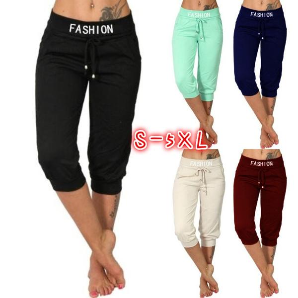 Women Pants, Summer, Fitness, trousers