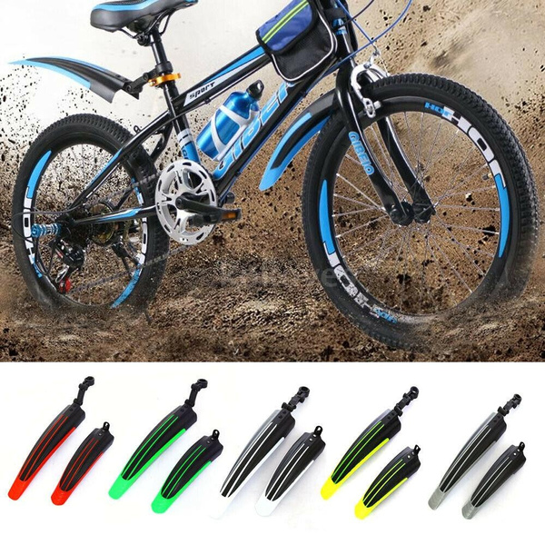 Mountain Bike Bicycle Cycling Road Tire Front Rear Mudguard Fender Set Mud Guard