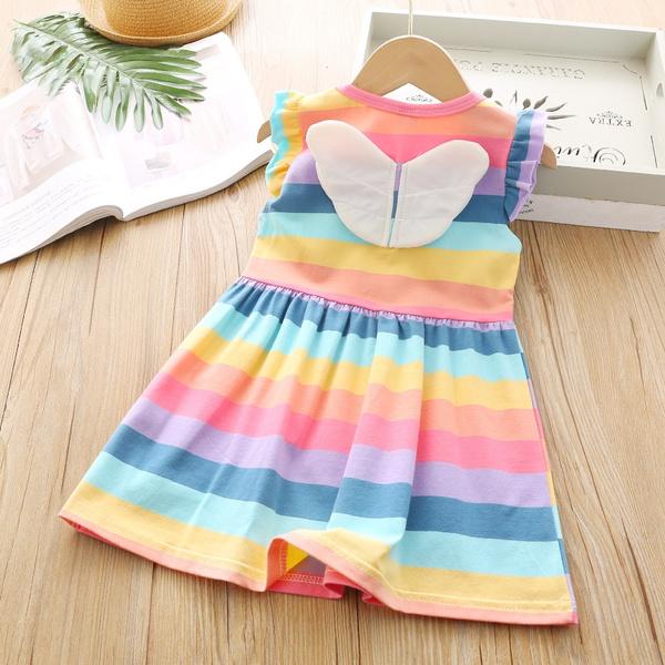 Summer, girls dress, Sleeve, kidsbabyshort