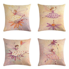flaxpillowcover, Flowers, homeampoffice, printedpillowcase