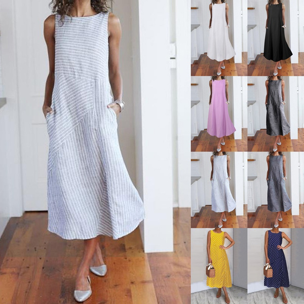 Sleeveless dress, sleeveless, dressesforwomen, vest dress