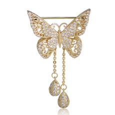 butterfly, diamondbrooch, brooches, gold