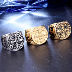 Medieval, gold, Stainless Steel, Cross