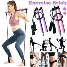 elasticrope, exercisestick, pilatesrod, Home & Living