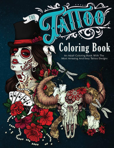tattoo, comicsmangacoloringbooksforgrownup, tattoocoloringbook, anadultcoloringbook
