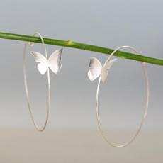 Sterling, butterfly, earrings jewelry, bohojewelry