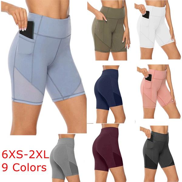 Pocket, Plus Size, Cycling, high waist